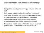 business models and competitive advantage