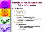 combinatorial auctions with price information1