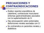 precauciones y contraindicaciones