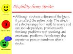 disability from stroke