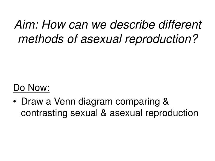 Venn diagram comparing asexual and sexual reproduction definition