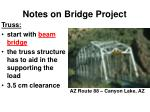 notes on bridge project1