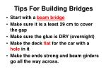 tips for building bridges
