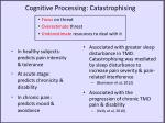 cognitive processing catastrophising