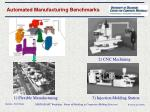 automated manufacturing benchmarks
