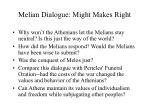 melian dialogue might makes right