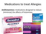 medications to treat allergies
