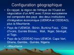 configuration g ographique