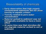 bioavailability of chemicals