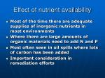 effect of nutrient availability