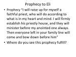 prophecy to eli