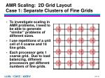 amr scaling 2d grid layout case 1 separate clusters of fine grids