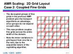 amr scaling 2d grid layout case 2 coupled fine grids