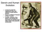darwin and human evolution
