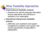 other feasibility approaches