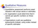 qualitative measures