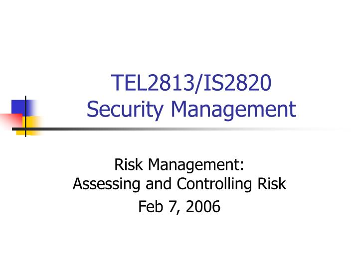 tel2813 is2820 security management n.