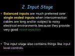 2 input stage1