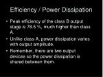 efficiency power dissipation
