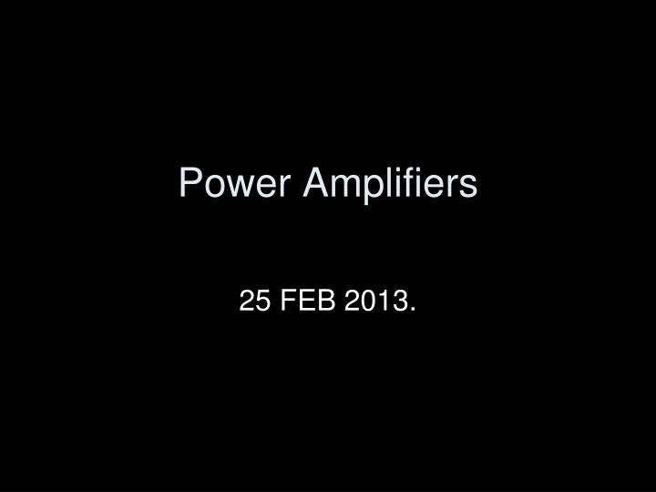 power amplifiers n.