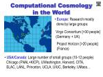 computational cosmology in the world
