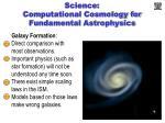 science computational cosmology for fundamental astrophysics