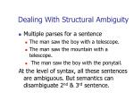 dealing with structural ambiguity