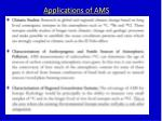applications of ams