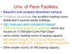 univ of penn facilities