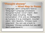 thought shower mind map in focus1