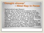 thought shower mind map in focus2