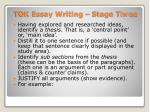 tok essay writing stage three