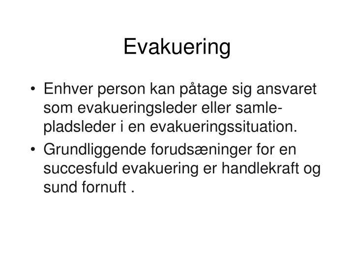 Evakuering