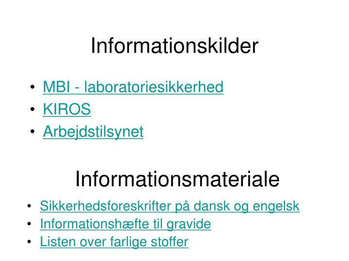 Informationskilder