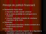 principii de politic financiar