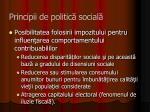 principii de politic social