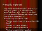 principiile impunerii