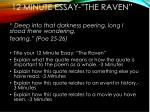 12 minute essay the raven
