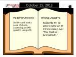 october 15 2013