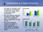 enrollment at a state university