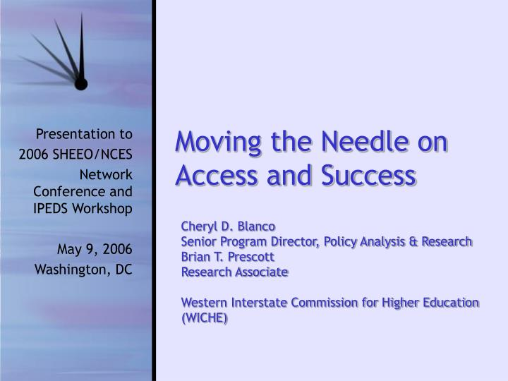 moving the needle on access and success n.