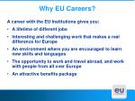 why eu careers