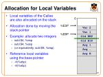 allocation for local variables
