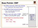 base pointer ebp
