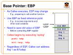 base pointer ebp1