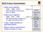 gcc linux convention