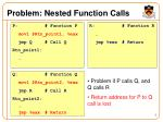 problem nested function calls