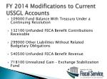 fy 2014 modifications to current ussgl accounts