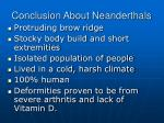 conclusion about neanderthals