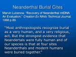 neanderthal burial cites